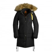 Dam Parajumpers Long Bear Jacket Fur Trim Svart..