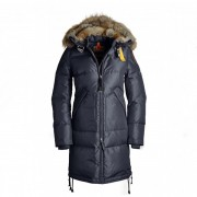 Dam Parajumpers Long Bear Jacket Fur Trim Mörkblå