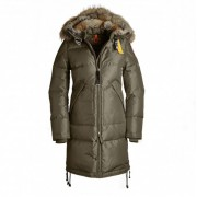 Dam Parajumpers Long Bear Jacket Fur Trim Oliv..