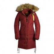 Dam Parajumpers Long Bear Jacket Fur Trim Röd..