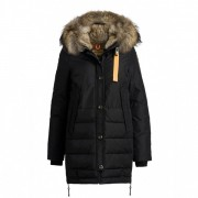 Dam Parajumpers Ny Long Bear Jacket Fur Trim Svart