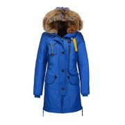Dam Parajumpers Ny Long Bear Jacket Fur Trim Blå