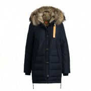 Dam Parajumpers Ny Long Bear Jacket Fur Trim Mörkblå