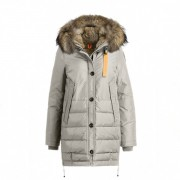 Dam Parajumpers Ny Long Bear Jacket Fur Trim Elfenben..